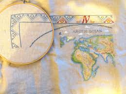 Antique World Map by Antique World Map U2013 Crossstitchandkeepsakes