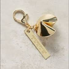 fortune cookie keychain anthropologie accessories fortune cookie keychain poshmark