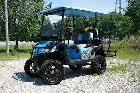 e z go rxv baby blue charcoal and black custom golf cart