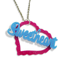 Acrylic Name Necklace Sweetheart Name Necklace Sweetheart Name Necklace 14 99