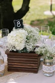 Wooden Centerpiece Boxes by The Low Floral Centerpieces Will Be Clusters Of Wood Boxes 3 Per