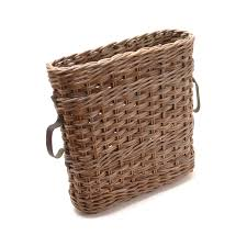 wicker basket with leather handles oval umbrella basket with leather handles rotankado