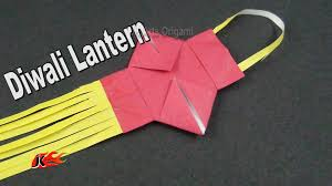 learn origami how to make a small paper diwali lamp kandil