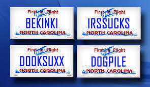 Banned Vanity Plates Photos Banned Nc License Plates Wncn