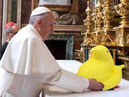 peeps basket pope francis eagerly devours peeps from easter basket