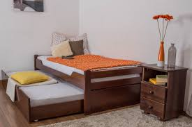 Beech Bed Frames Single Bed Easy Sleep K1 1h Incl Trundle Bed Frame And Cover