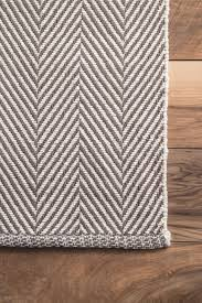 Woven Rugs Cotton Chaletherringbone Cotton Flatwoven Rug Contemporary Spaces And