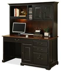 Desk With Computer Storage Riverside Furniture Bridgeport Single Pedestal Computer Desk With