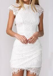 white lace dress white plain wavy edge lace dress mini dresses dresses