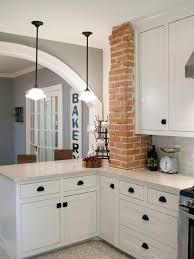 kitchen interior brick veneer brick in the wall faux stone wall