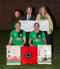 celtic make 10k donation to poppy scotland to support kids across