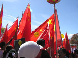 Chinese Flag Wiki File Chinese Flags Obscure Tibet Protest Jpg Wikimedia Commons