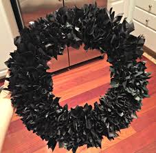How To Make Halloween Wreaths by How To Make A Tissue Paper Halloween Wreath Rocky Mountain Bliss