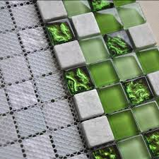 Ice Crack Glass Mosaic Tile Kitchen Backsplash Wall Stone Mosaics - Stone glass mosaic tile backsplash