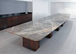 marble conference room table contemporary rectangle conference table with stone top by arnold