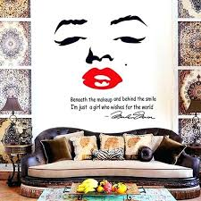 Home Decor Dropship Wall Art Marilyn Monroe Wall Decal Removable Art Home Decor