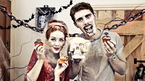 halloween cupcakes with pointlessblog zoella youtube