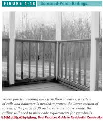 porch construction u0026 porch screening installation details