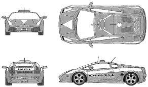 lamborghini gallardo blueprint car blueprints lamborghini gallardo polizia blueprints vector