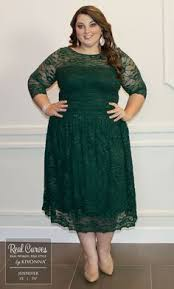 green plus size holiday dress clothing for large ladies
