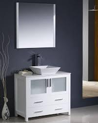 36 vessel sink vanity fresca torino 36 white modern bathroom vanity w vessel sink