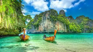 imagenes mayas hd maya bay ko phi phi leh in thailand boat exotic desktop wallpaper hd