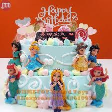 rapunzel cake topper ohmetoy 6pcs princess snow white ariel rapunzel