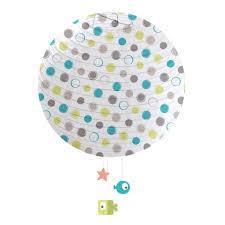 suspension chambre bébé domiva suspension lanterne papier blip blap blop taupe bleu