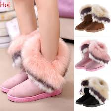 womens boots winter thicken flats shoes snows boots 2016 fur boot botas