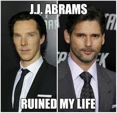 Benedict Cumberbatch Meme - cumberbatch bana meme star trek khan nero j j abrams ruined