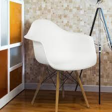 eames style armchair mid century modern molded plastic shell arm