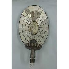 Tin Wall Sconce Two Mirrored Tin Wall Candle Sconces One With Back
