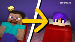 Bedsheets Minecraft Mcpe How To Sleep On The Bed Sheets Youtube