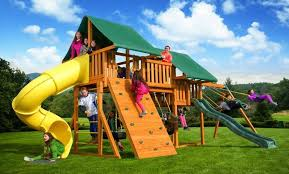 fantasy wooden playset a best in backyards