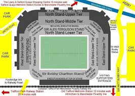 tottenham wembley seating plan away fans old trafford manchester united fc football ground guide