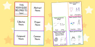 different types of nouns spag craft activity spag
