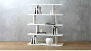 Aspen Bookcase Bookcase Crisp White Finish Aspen Low Narrow 3 Shelf Bookcase