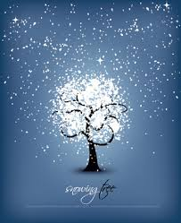 vector snowflake snowing tree lines free vector in encapsulated