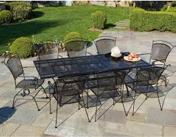 Black Metal Chairs Outdoor Patio Outdoor Dining Set On Patio With Furniture Brands Aside