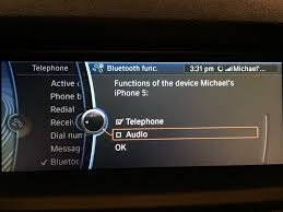 bluetooth audio issues between iphone and bmw and no carplay