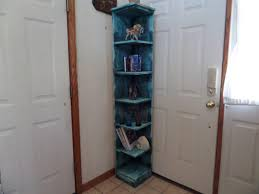 Tall Corner Bookshelves by Interior Tall Blue Distressed Corner Bookshelf Design Cool Tall