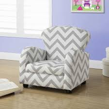 juvenile upholstered chair grey chevron fabric
