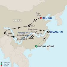 Xi An China Map by Hong Kong To Beijing River Cruise Avalon Asia