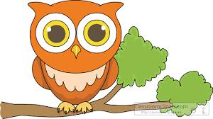 clipart bird clipart owl sitting on tree branch