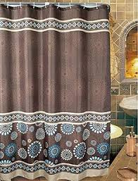 Brown Floral Shower Curtain Kate Spade Candy Shop Stripe Shower Curtain Chocolate Brown Blue