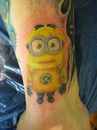 bvb minion tattoo art by joerg c alda wildthing germany