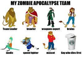Zombie Birthday Meme - lkhff zombie apocalypse team by troythedinosaur on deviantart