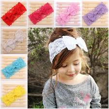 baby headwrap baby kids lace bowknot headbands bow headwrap lace bow