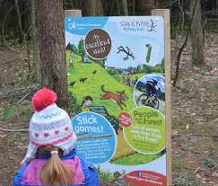 the stick man trail at hamsterley forest in durham north east