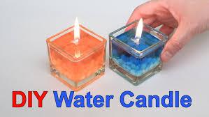 diy beautiful water candle youtube